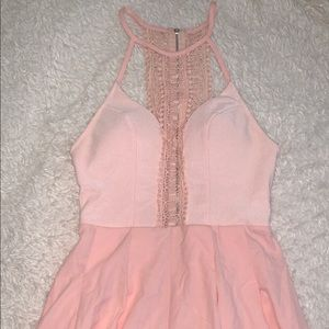 Xenia Boutique Pink High Neck Playsuit